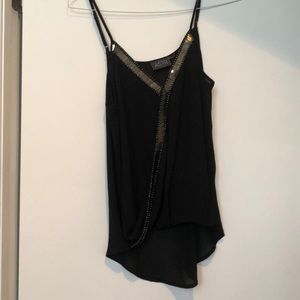 Cute black tank top for going out